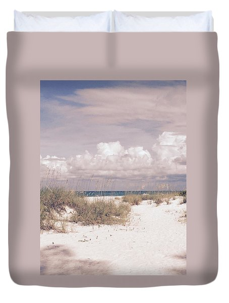 Anna Maria Island Moods Of June Duvet Cover by Jean Marie Maggi