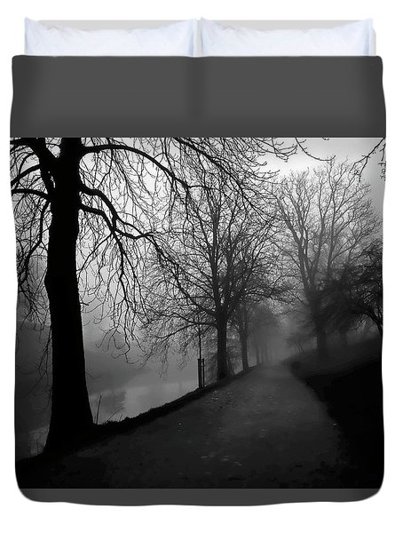 Moody And Misty Morning Duvet Cover