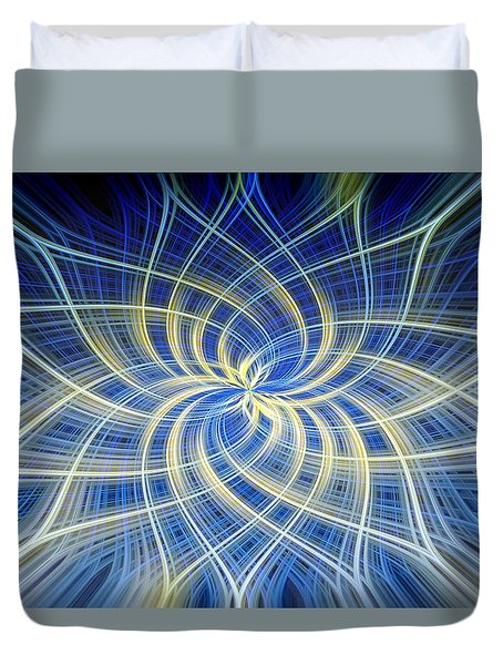 Moody Blue Duvet Cover by Carolyn Marshall