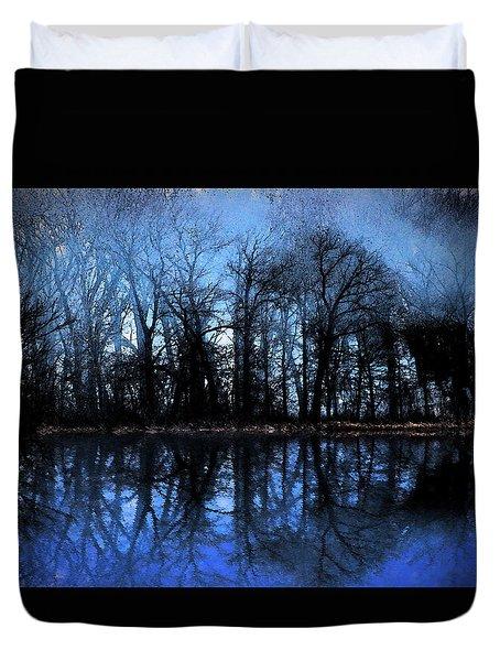 Moody Blue Daybreak Duvet Cover by Cedric Hampton