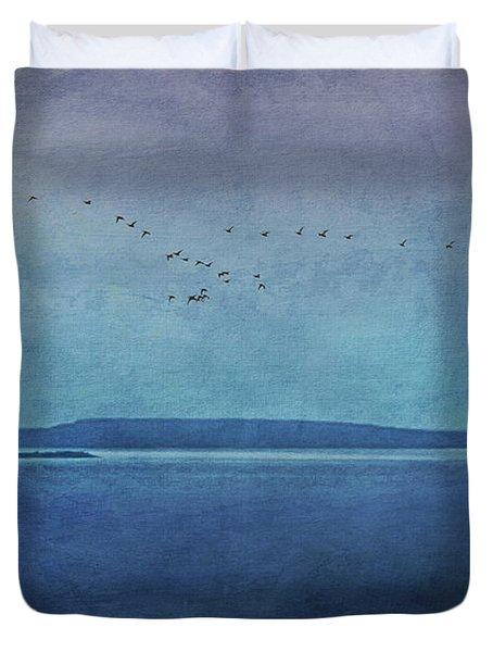Moody  Blues - A Landscape Duvet Cover