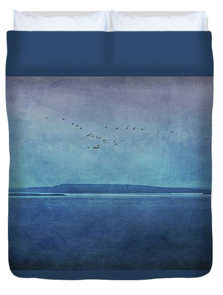 Moody  Blues - A Landscape Duvet Cover