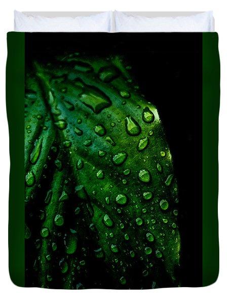 Moody Raindrops Duvet Cover