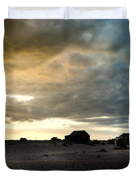 Moody Sky, Dungeness Beach  Duvet Cover