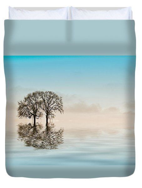 Moody Trees Duvet Cover by Jean Noren