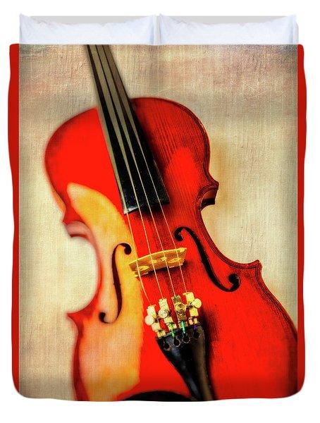 Moody Violin Duvet Cover by Garry Gay