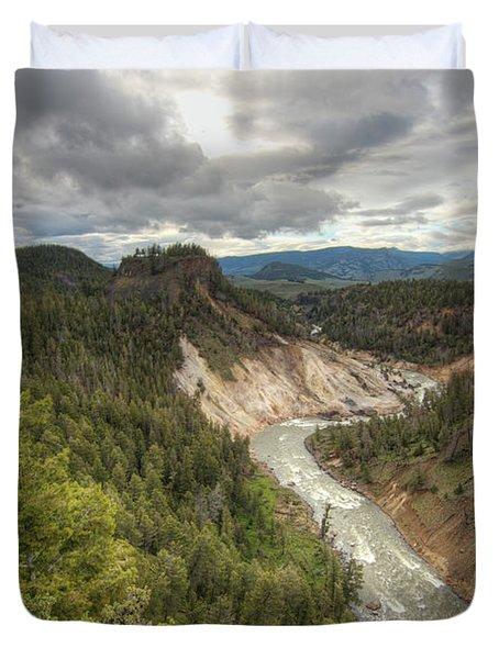 Moody Yellowstone Duvet Cover