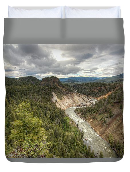 Moody Yellowstone Duvet Cover