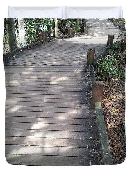 Mooloolaba Path Duvet Cover