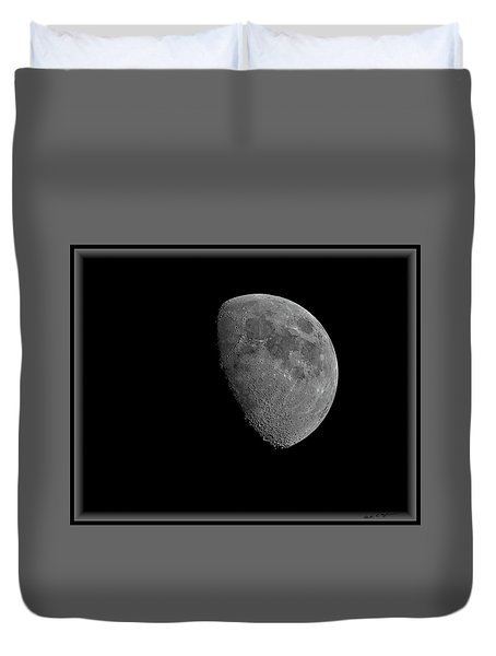 Duvet Cover featuring the photograph Moon 67 Percent Fr23 by Mark Myhaver