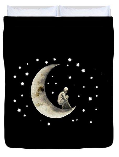 Moon And Stars T Shirt Design Duvet Cover