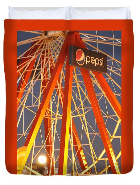 Moon And The Ferris Wheel Duvet Cover