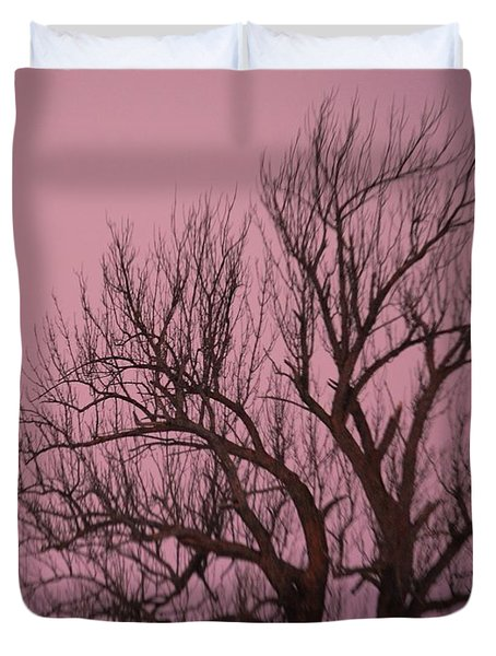 Moon And Tree Duvet Cover