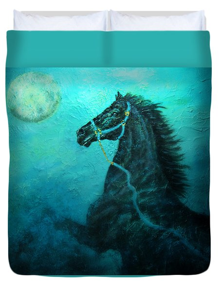 Moon Dance Duvet Cover by The Art With A Heart By Charlotte Phillips