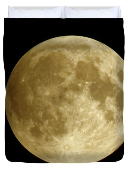 Moon During Eclipse Duvet Cover