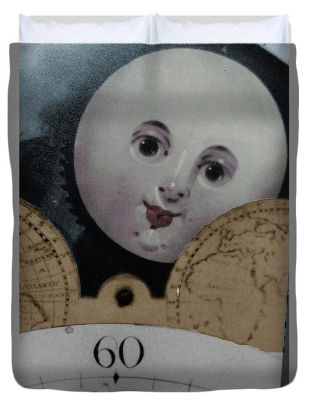 Moon Face Duvet Cover