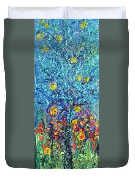 Moon Flowers Duvet Cover