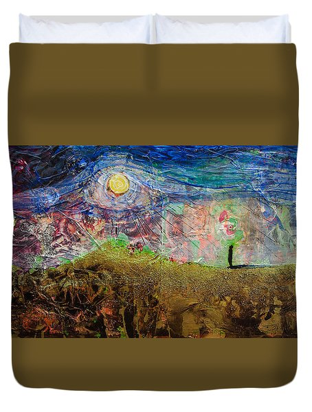 Moon Gazing Duvet Cover