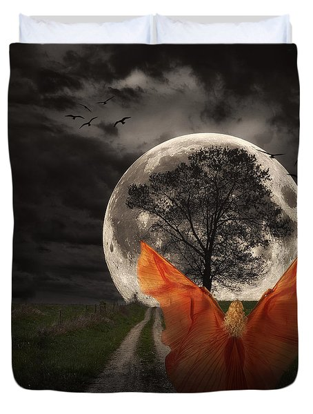 Moon Goddess Duvet Cover by Tom Mc Nemar