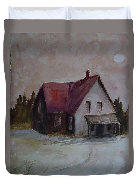 Moon House Duvet Cover