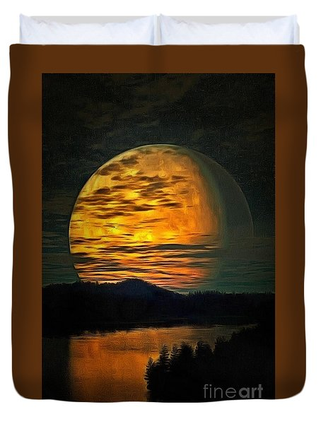 Moon In Ambiance Duvet Cover
