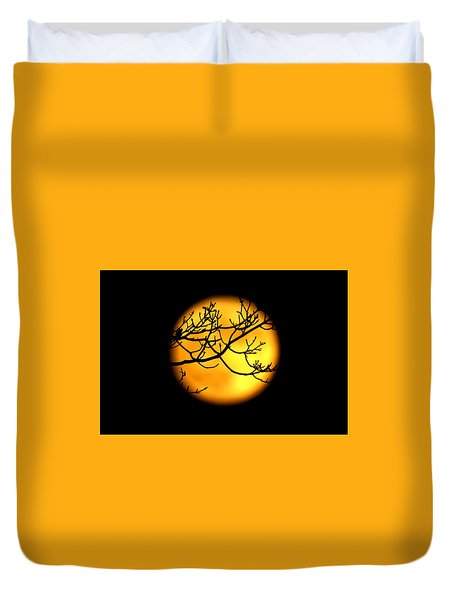 Moon In The Trees Duvet Cover