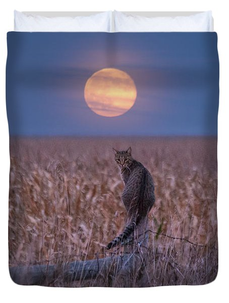 Moon Kitty  Duvet Cover