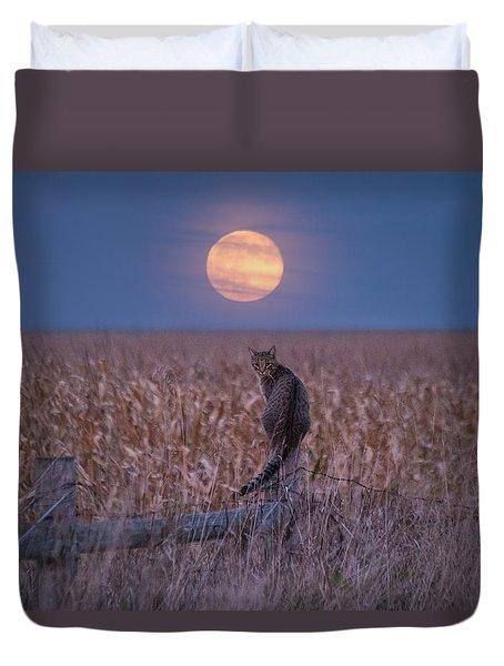 Moon Kitty  Duvet Cover