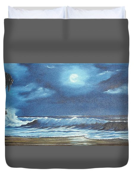 Moon Light Night In Paradise Duvet Cover