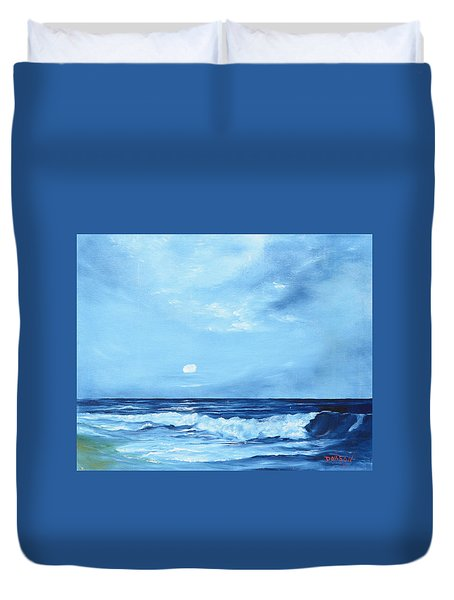 Moon Light Night Wave Duvet Cover