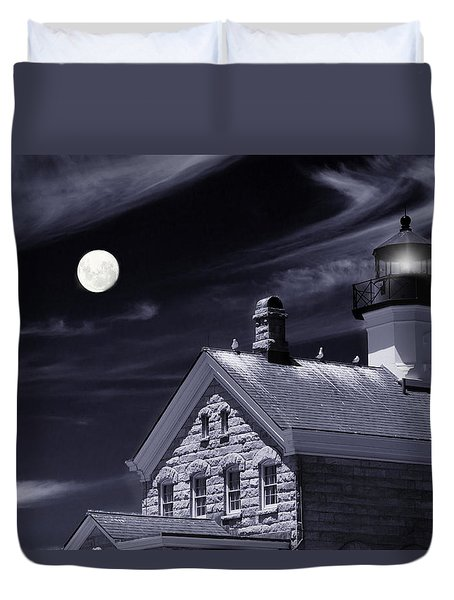 Duvet Cover featuring the photograph Moon Light by Robin-Lee Vieira