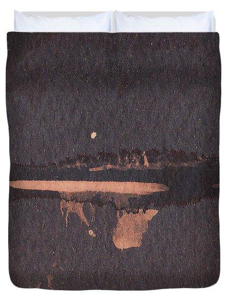 Moon Lit River Bank Duvet Cover