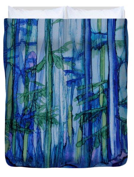 Moonlit Forest Duvet Cover