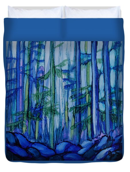 Moonlit Forest Duvet Cover by Joanne Smoley