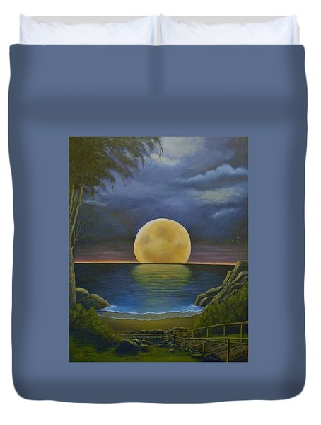 Moon Of My Dreams II Duvet Cover by Sheri Keith