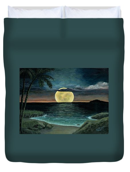 Moon Of My Dreams IIi Duvet Cover by Sheri Keith