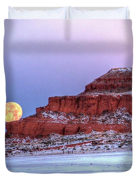Moon Of The Popping Trees Duvet Cover