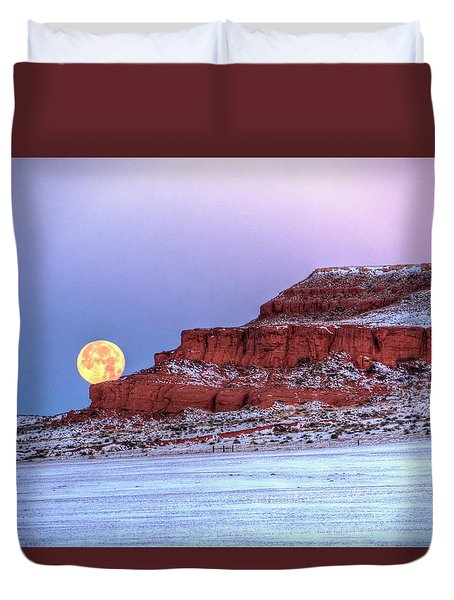 Moon Of The Popping Trees Duvet Cover
