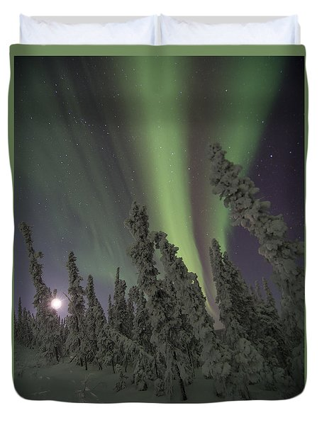 Moon On The Hill Duvet Cover