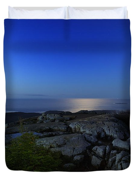 Moon Over Cadillac Duvet Cover