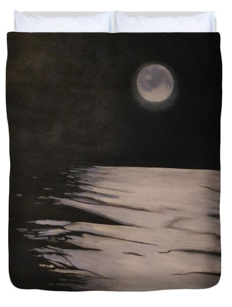 Moon Over The Wedge Duvet Cover