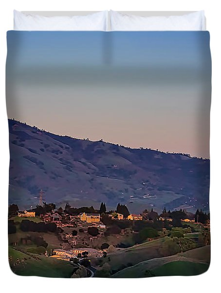 Moon Over Diablo Duvet Cover