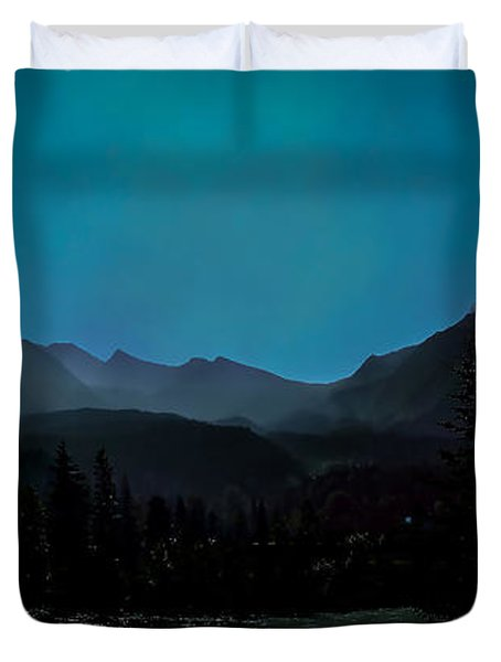 Moon Over Field Bc Duvet Cover