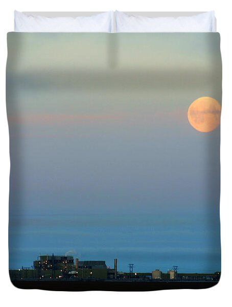 Moon Over Flow Station 1 Duvet Cover