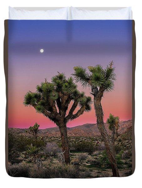 Moon Over Joshua Tree Duvet Cover