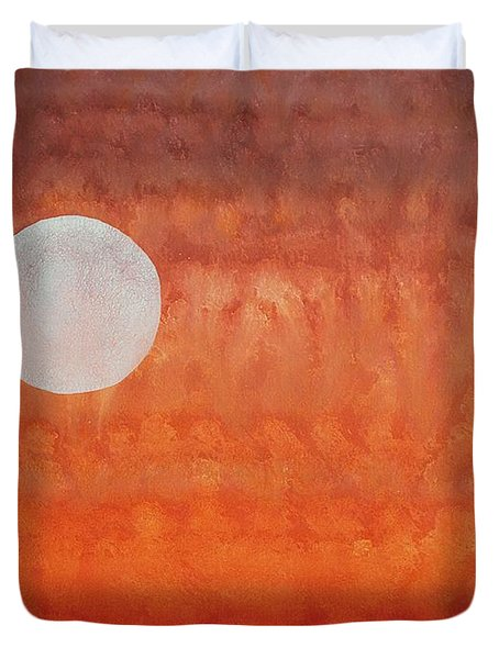 Moon Over Mojave Duvet Cover by Sol Luckman