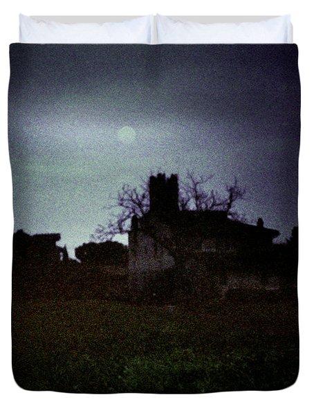 Moon Over Nice Duvet Cover