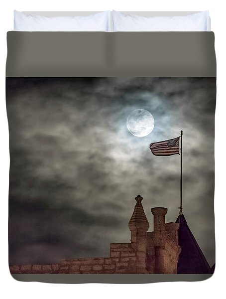 Moon Over The Bank Duvet Cover