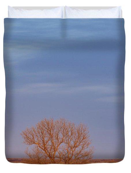 Moon Over Tree Duvet Cover