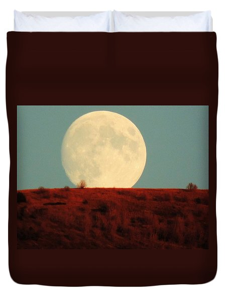 Moon Over Utah Duvet Cover